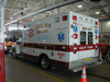 Ambulance with decals and lettering done by Dornbos Sign Inc.