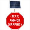 Flashing LED Custom Octagon Sign
