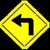 W1-1L Left Curve Sign