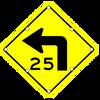 W1-1AL SIGN
