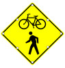 Flashing LED W11-15 Share the Road Sign