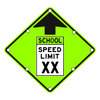 School Speed Limit Ahead Sign