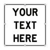 LED Custom Square Sign - White