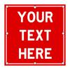 LED Custom Square Sign - Red