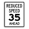 R2-5B Reduced Speed Ahead Sign