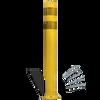 city post surface mount yellow post yellow reflective