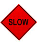 slow roll up sign
