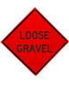 w8-7 loose gravel roll up sign