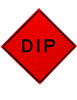 W8-2 DIP ROLL UP SIGN