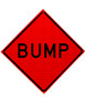 W8-1 BUMP ROLL UP SIGN