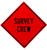 W21-6 survey crew roll up sign