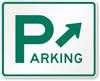 D4-1 Parking Sign with Diagonal Arrow