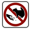 "Black, Red, and White ""Don't Feed Squirrel"" Sign, 18"" x 18"", High Intensity Prismatic Reflective"