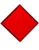 diamond shape, orange and black sign, custom words