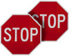 stop sign for crossing guard
