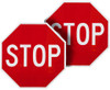 STOP/STOP for Handheld Signs