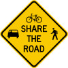 Alert Motorist to Bicycle and Pedestrian Traffic with this High Quality Sign.