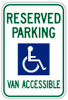Handicap Parking Van Accessible Sign