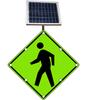 Flashing LED W11-2 Pedestrian Crossing Sign