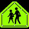 S1-1 SOLAR SCHOOL SIGN with 8 Blinking LED Light