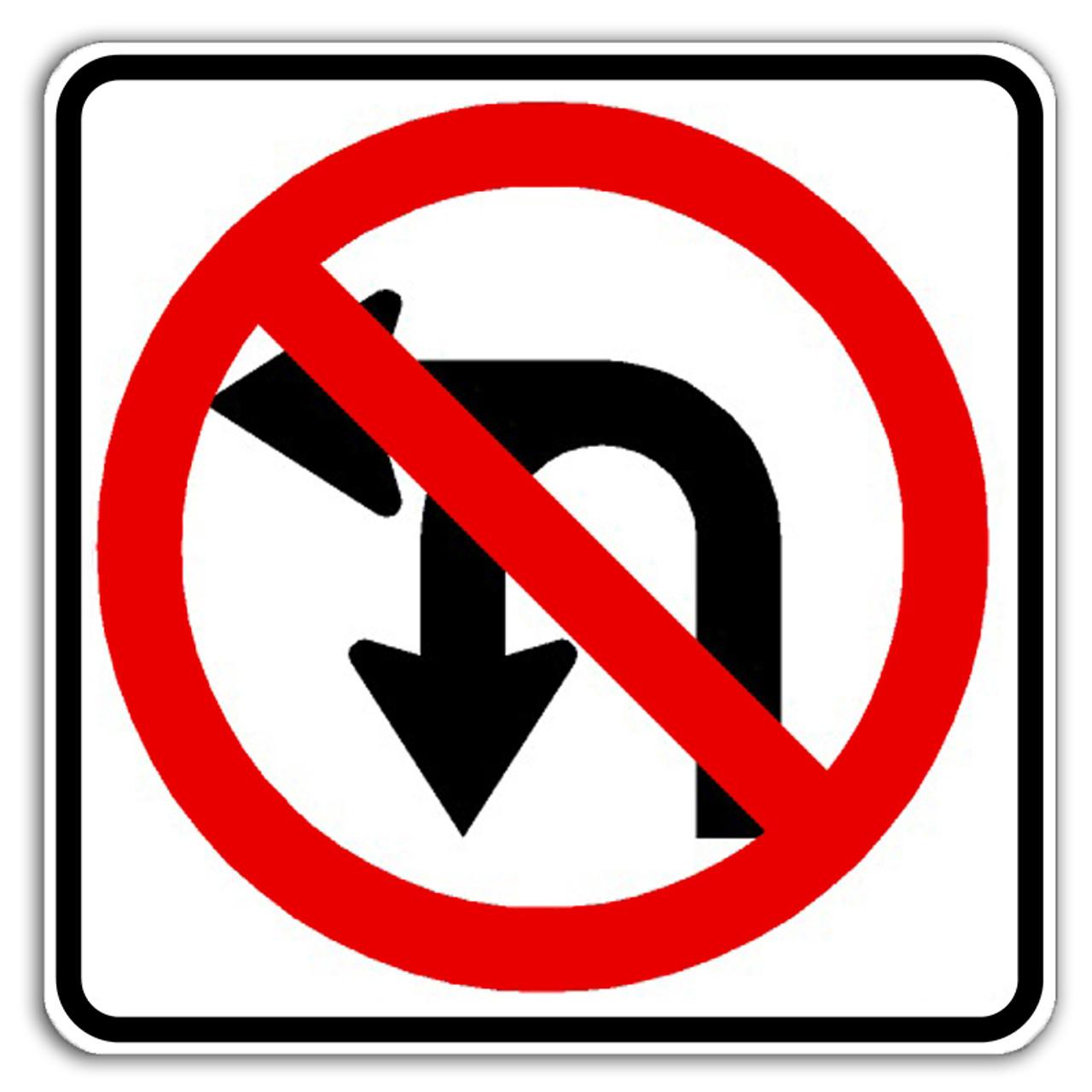R3-18 No U/Left Turn Sign | Dornbos Sign & Safety, Inc.