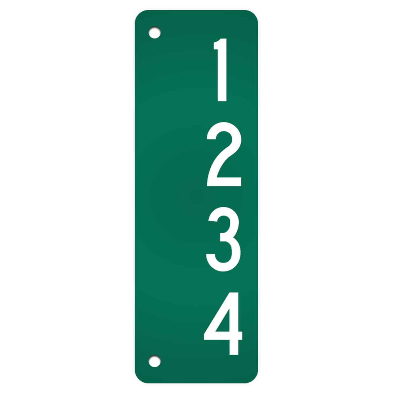 Reflective Address Sign Blanks 911 Sign Blanks Dornbos Sign Safety Inc