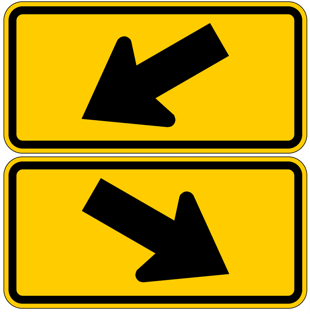 Keep Left or Keep Right with Arrow 12 x 18 Aluminum Sign