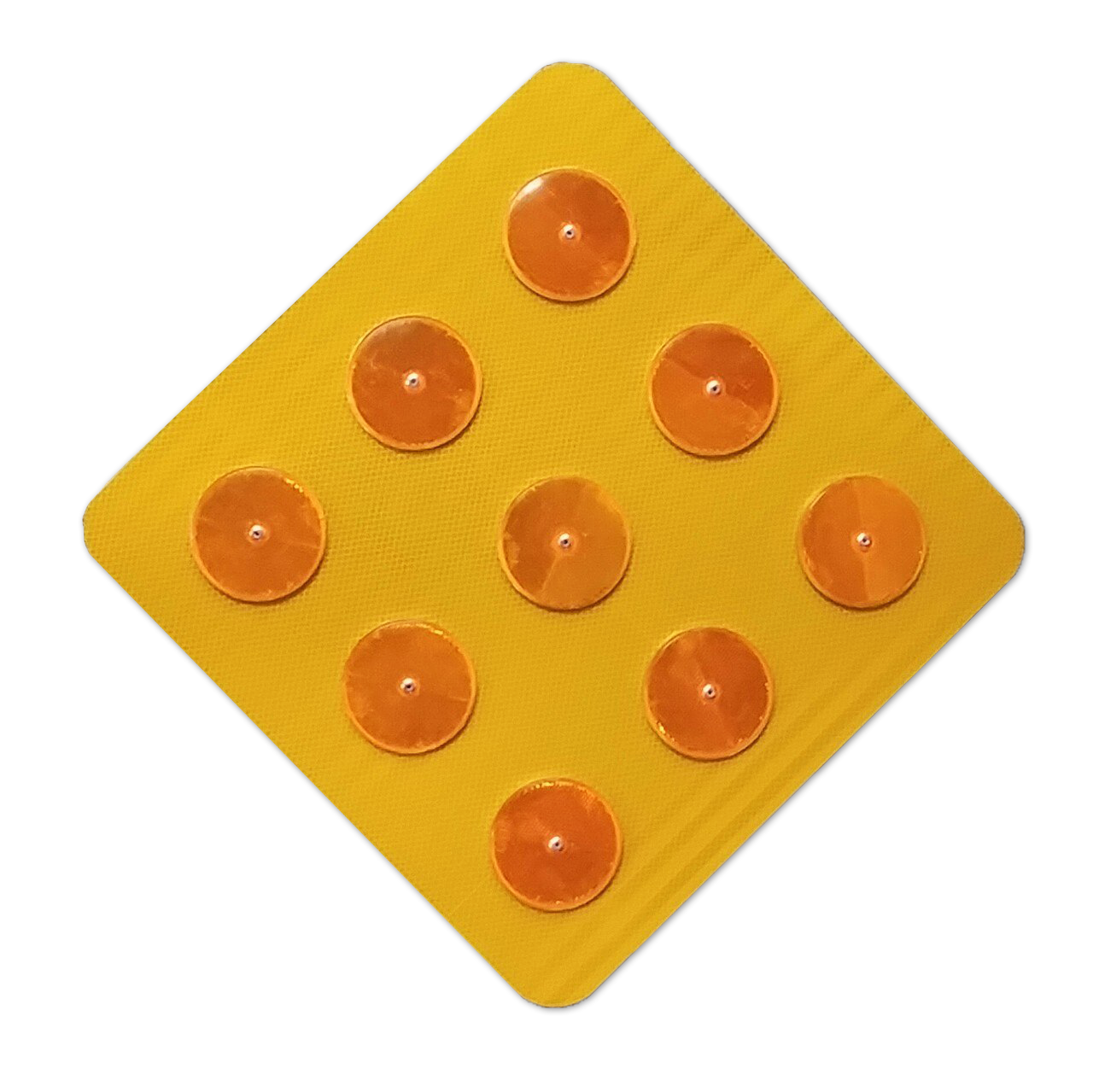 x12 Stickers Safe-Tee Reflective YELLOW CIRCLE