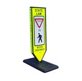 How Can Fluorescent Yellow or Fluorescent Yellow-Green Diamond Grade High Visibility Crosswalk Signs Enhance Pedestrian Safety?