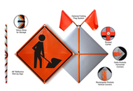 Portable Men Working Signs