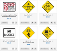 Bicycle Traffic Sign Supplier