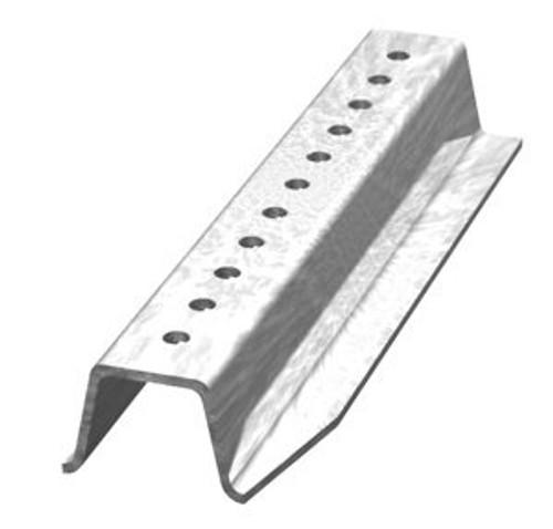 Galvanized steel 8'  2lb. per foot U-channel sign post