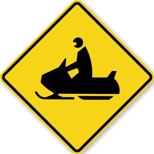 Black & Yellow Snowmobile Sign