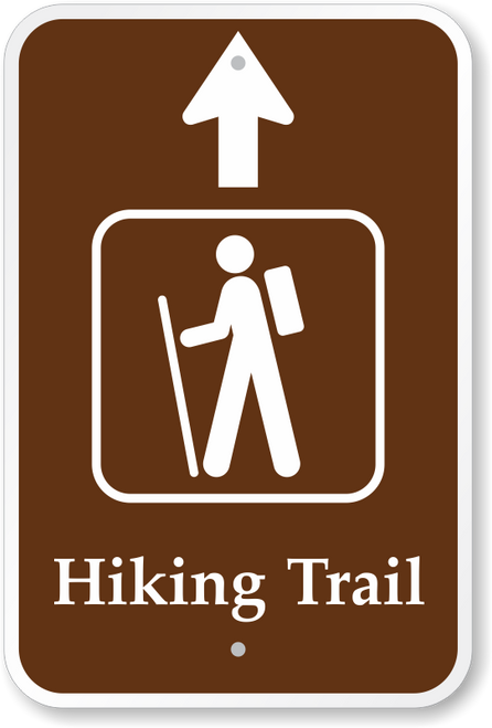 Hiking Trail with Thru Arrow