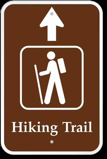 Hiking Trail with Thru Arrow