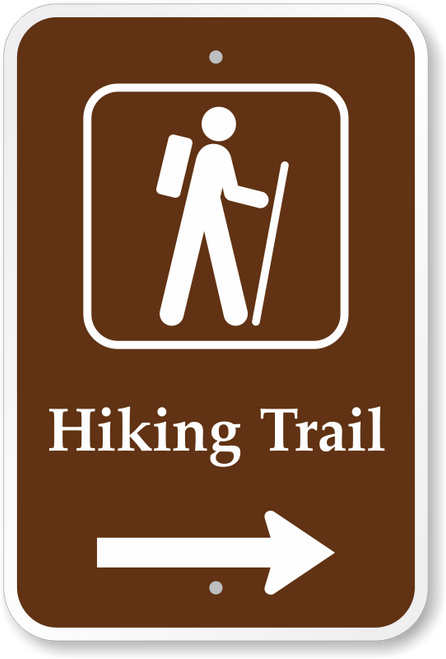Hiking Trail w/ Right Arrow
