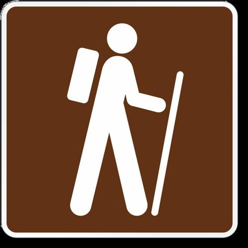 hiking symbol