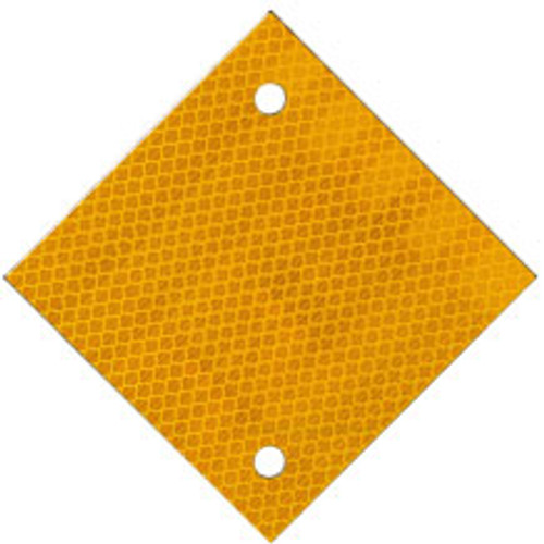 "4"" X 4"" YELLOW HIP/ALUMINUM DIAMOND SHAPED POST REFLECTOR"