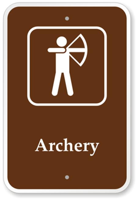 Archery Range Sign