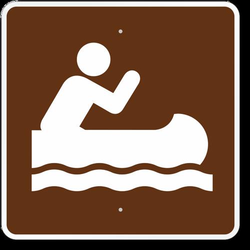 Canoe Symbol Sign
