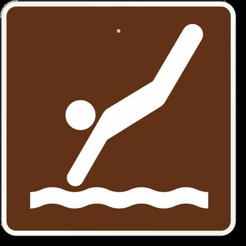 Diving Symbol Sign