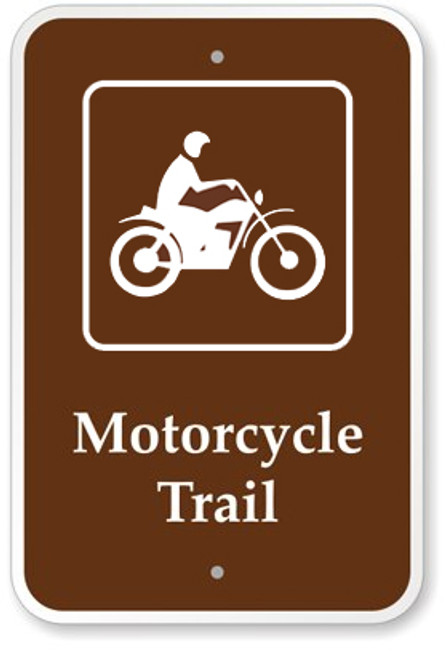 Motorcycle Trail Sign
