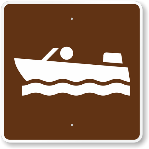 Motor Boating Sign