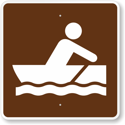 Row Boating Sign