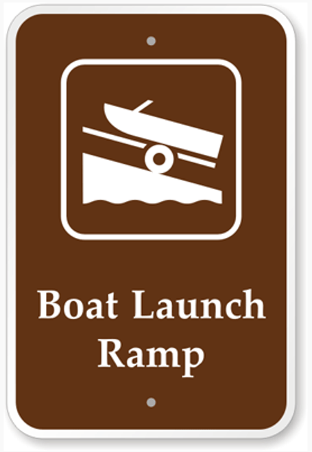 Boat Launch Ramp Sign