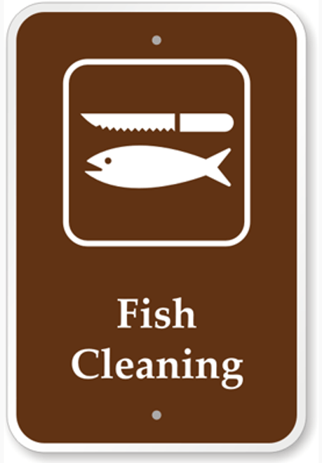 Fish Cleaning Sign