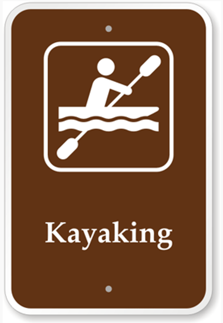 Kayaking Sign