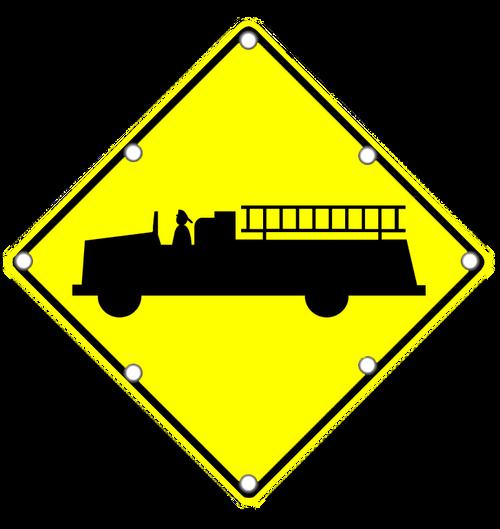 W11-8 FIRETRUCK SIGN