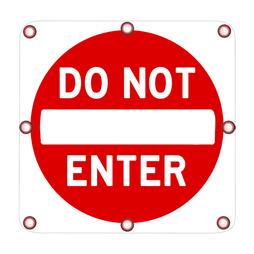 R5-1 Do Not Enter Sign