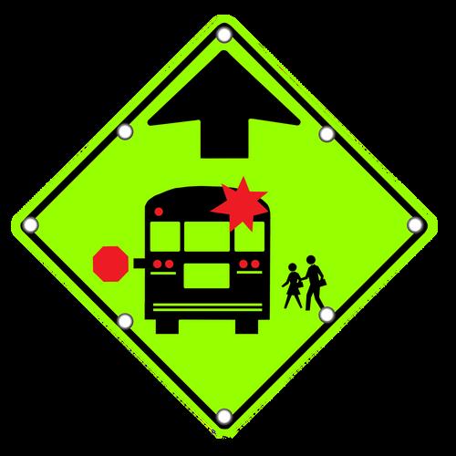 S3-1 School Bus Stop Ahead